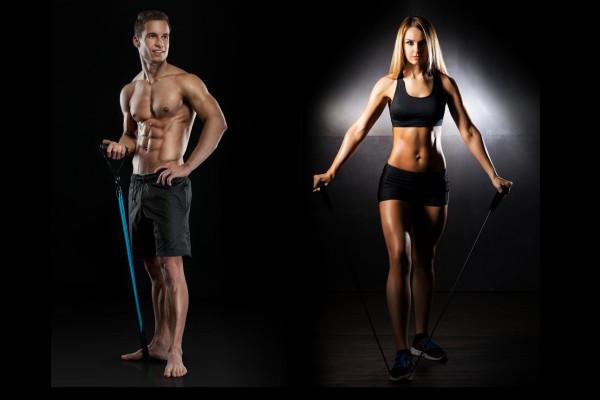 Trening w domu lub na siłowni z linami oporowymi